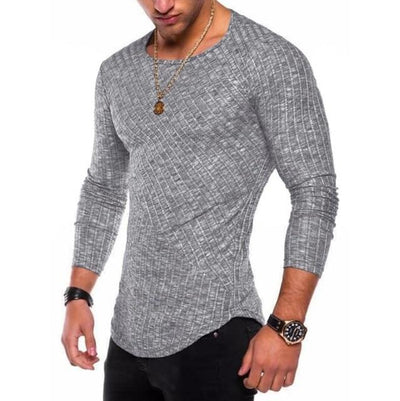 Slim-Fit Long Sleeve - Dark grey / S