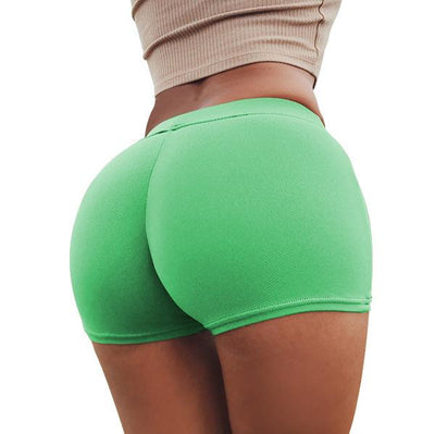 Push Up Yoga Shorts - Fluorescent Green / S