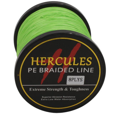 Colored Braided Fishing Line - Fluorescent Green