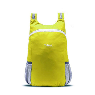 Waterproof Folding Backpack - Fluorescent yellow