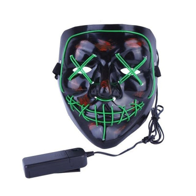 Purge Light-Up LED Mask - Green
