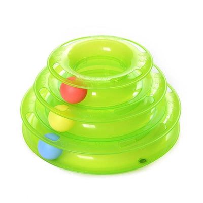Rolling Ball Plate Toy for Cats - Green