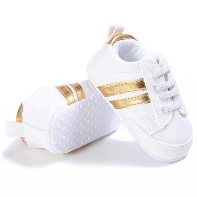 Soft Sport Sneakers - Gold / 0-6 Months