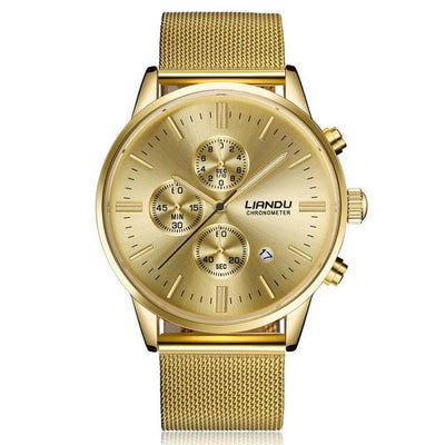 Men's Chronograph Watch - Gold