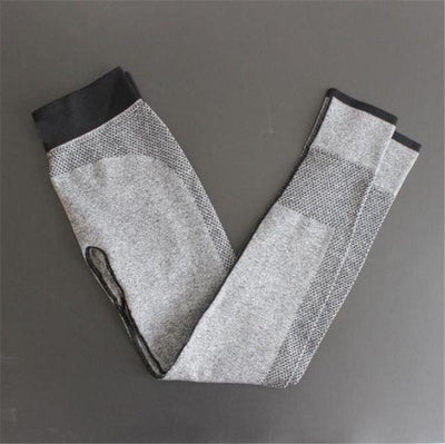 Push-up Elastic Leggings - Gray / S