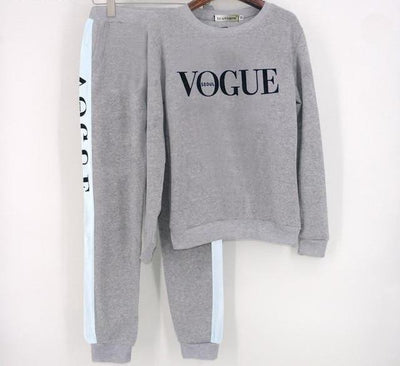 Vogue Tracksuit Set - Gray / S
