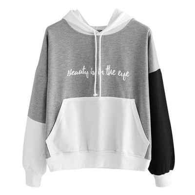 """Beauty is in the Eye"" Hoodie - Gray / S"