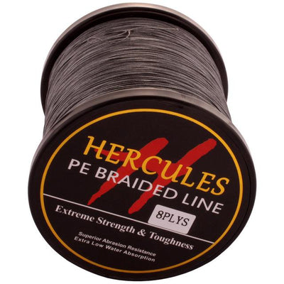 Colored Braided Fishing Line - Gray