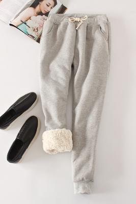 Candy Color Warm Jogger Pants - Gray / M