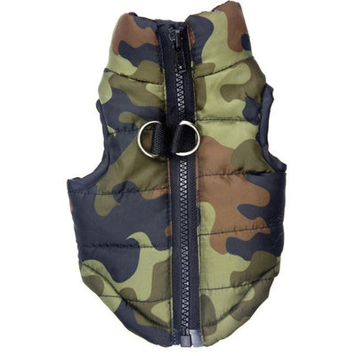 Waterproof Dog Coat - Green Camo / XS