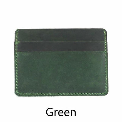 Men's Leather Card Holders - Green
