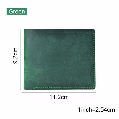 Vintage Leather Wallet - Green