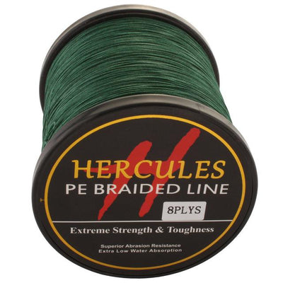 Colored Braided Fishing Line - Green
