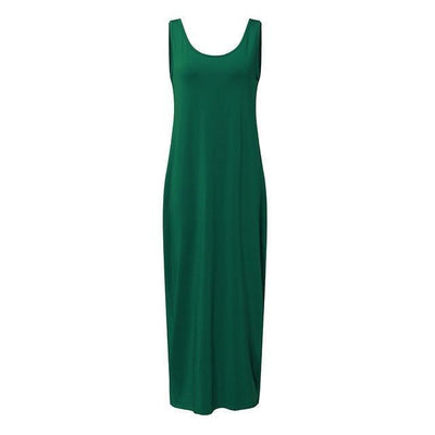 Sexy Backless Maxi Dress - Green / XS