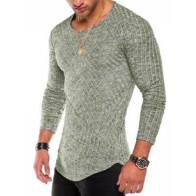 Slim-Fit Long Sleeve - Green / S