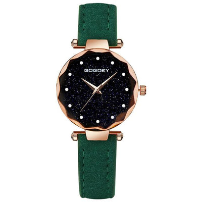 Women Starry Sky Watch - Green