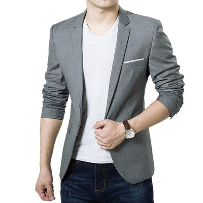 Men's Slim Suit Blazer - Grey / S