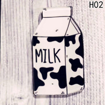 Food Pin Brooch - Milk