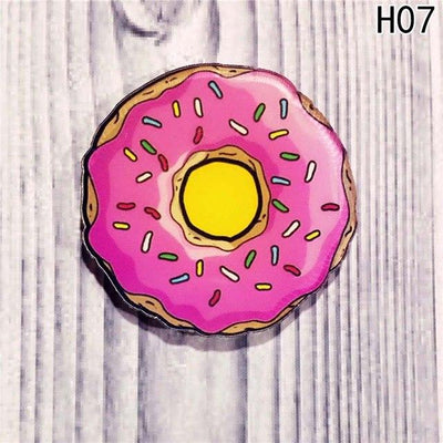 Food Pin Brooch - Pink Donut