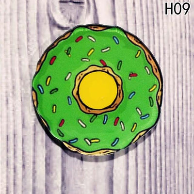 Food Pin Brooch - Green Donut
