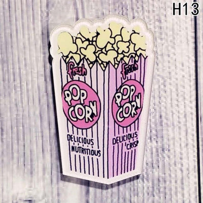 Food Pin Brooch - Popcorn