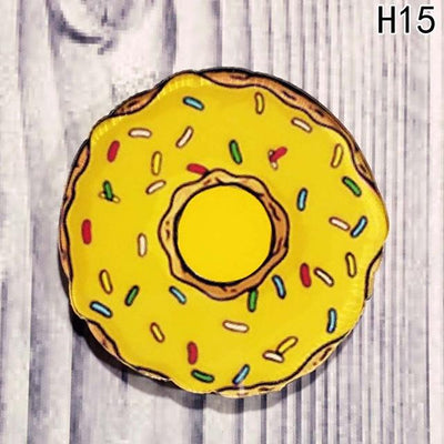 Food Pin Brooch - Yellow Donut