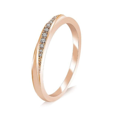 Elegant Zirconia Ring - 5.5 / Gold