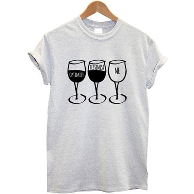 Goblet Printed Women T-Shirt - Grey / XS