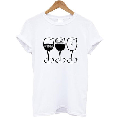 Goblet Printed Women T-Shirt - White / XS