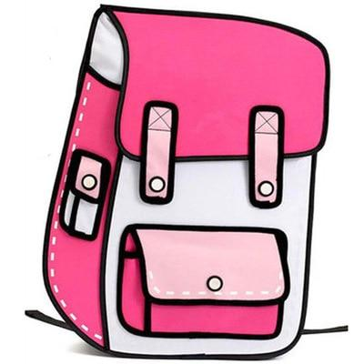 2D Backpack - Hot Pink