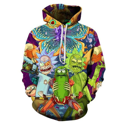 Rick and Morty Hoodies - R&M Fight / S