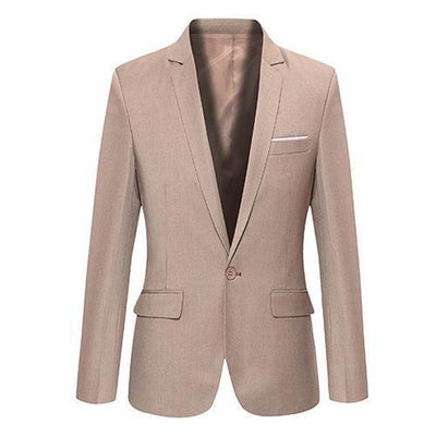 Men's Slim Suit Blazer - Khaki / S