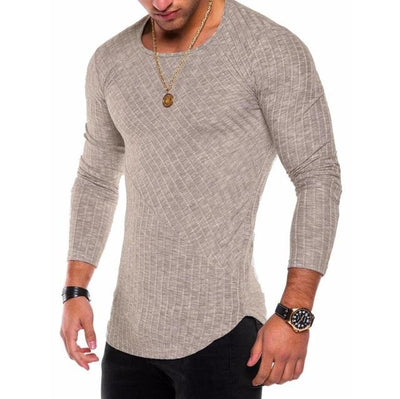 Slim-Fit Long Sleeve - Khaki / S