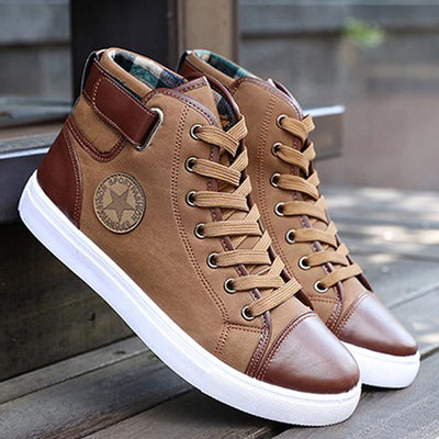 Classic High-Top Canvas - Khaki / 7