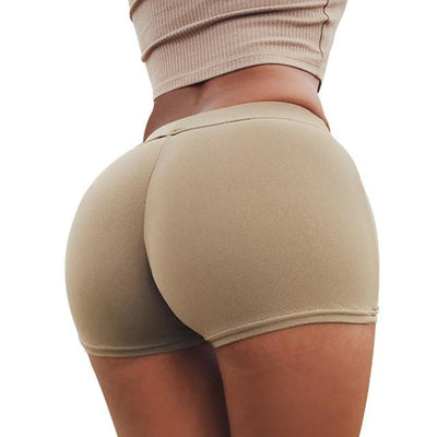 Push Up Yoga Shorts - Khaki / S