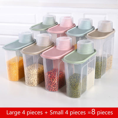 PP Food Storage Box - Large 4-Small 4