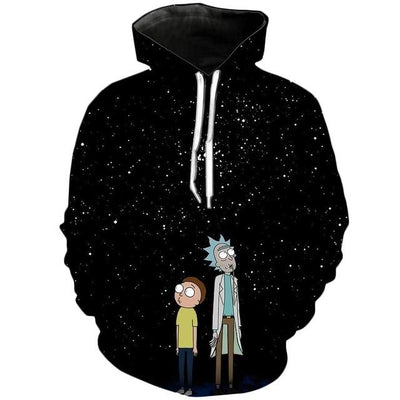 Rick and Morty Hoodies - Starry Night / S