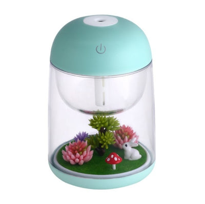 New Ultrasonic Air Humidifier with Aroma Lamp - Light Green