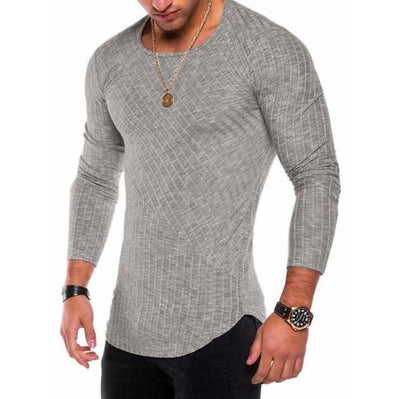 Slim-Fit Long Sleeve - Light grey / S