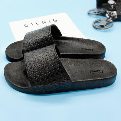 Men's Rubber Slides - Black