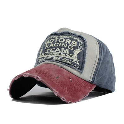 Motor Race Patchwork Cap - Navy