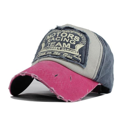 Motor Race Patchwork Cap - Rose