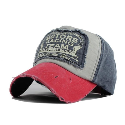 Motor Race Patchwork Cap - Watermelon Red