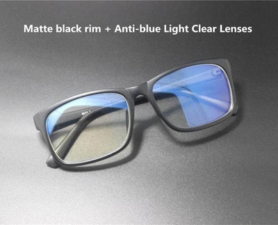 Blue Light Blocking Glasses - Matte black Clear