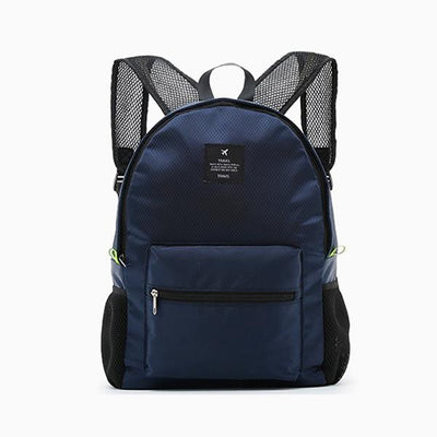 Waterproof School Backpack - Navy