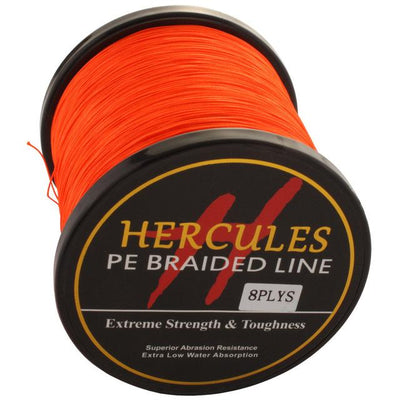 Colored Braided Fishing Line - Orange