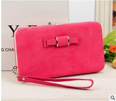 Wallet for Women - Peach red