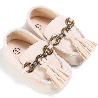Baby Tassel Casual Shoes - Beige / 1