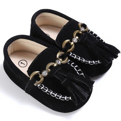 Baby Tassel Casual Shoes - Black / 1