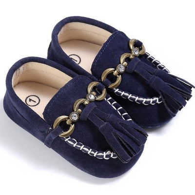 Baby Tassel Casual Shoes - Deep Blue / 1